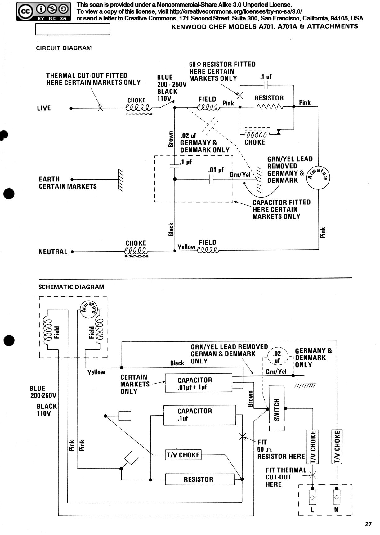 How To Repair A Kenwood Chef Motor Chopper Capacitor Wiring Diagram 167 189 Page 27