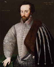 Portrait of Sir Walter Raleigh aged 34